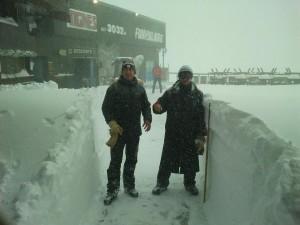 snowy in tignes